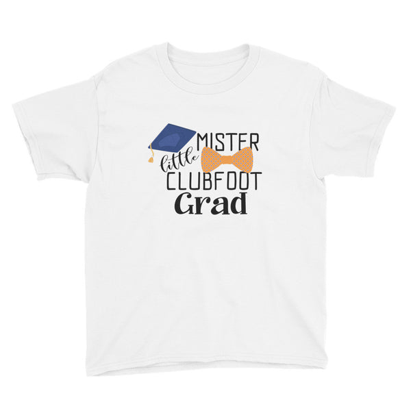 Little Mister Clubfoot Grad Orange Bow - Youth Short Sleeve T-Shirt