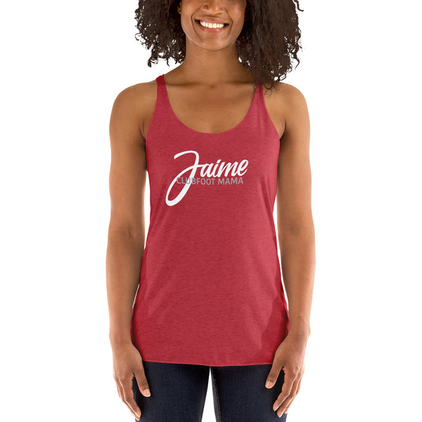 Clubfoot Mama Text - Customize Me - Women's Racerback Tank