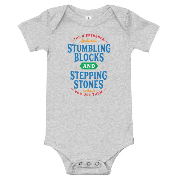 Stepping Stones - Primary Colors - Baby Onesie