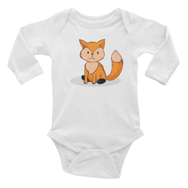Fox - Spring - Clubfoot Animal Collection - Infant Long Sleeve Bodysuit