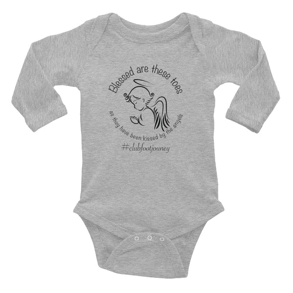 Blessed Are these Toes - Christmas - Infant Long Sleeve Bodysuit
