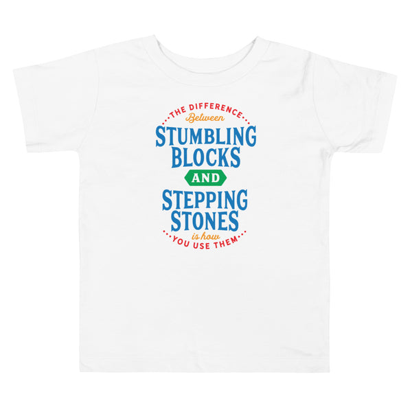 Stepping Stones - Primary Colors - Toddler Short Sleeve Tee