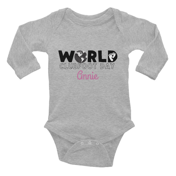 World Clubfoot Day 2020 - Infant Long Sleeve Bodysuit