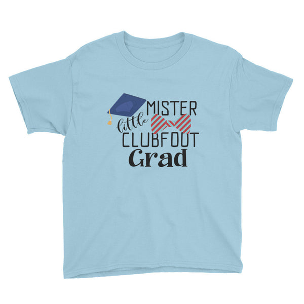 Little Mister Clubfoot Grad Red & Blue Bow - Youth Short Sleeve T-Shirt