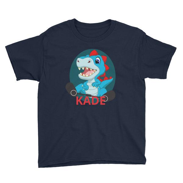 Dino (RED) - Custom - Youth Short Sleeve T-Shirt