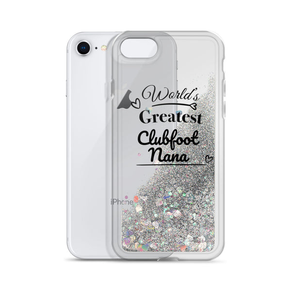 World's Greatest Clubfoot Nana - Liquid Glitter Phone Case (Christmas)
