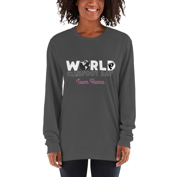 World Clubfoot Day 2020 - Man or Women  Unisex Long sleeve t-shirt