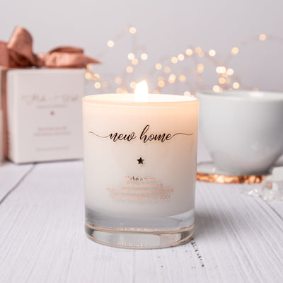 Image of a new home gift candle