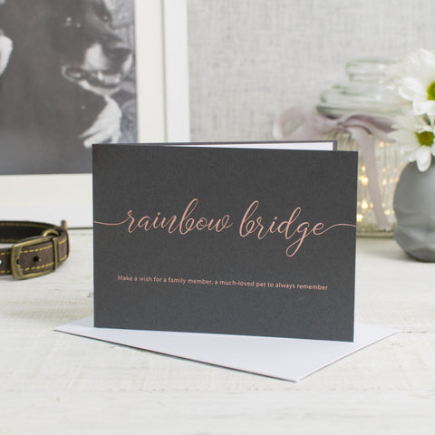 Make a Wish over the Rainbow Bridge Card (Pet Sympathy)
