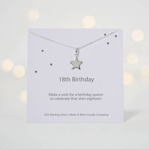 18th Birthday Make a Wish Necklace - makeawishcandleco