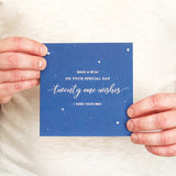 'Twenty One Wishes' 21st Birthday Card for Him - makeawishcandleco