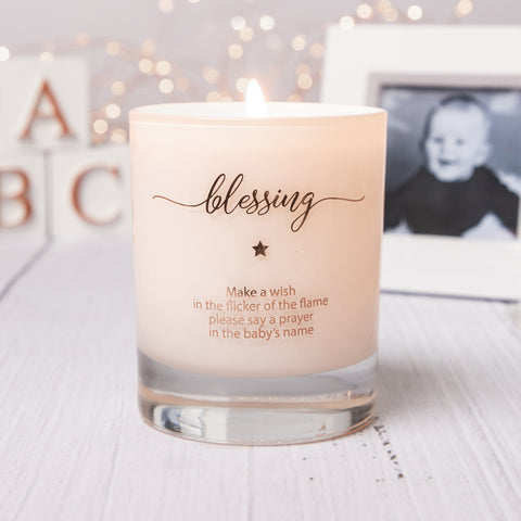 Make a Wish For a Baby Blessing Candle