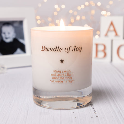 Make a Wish For a Bundle of Joy Candle