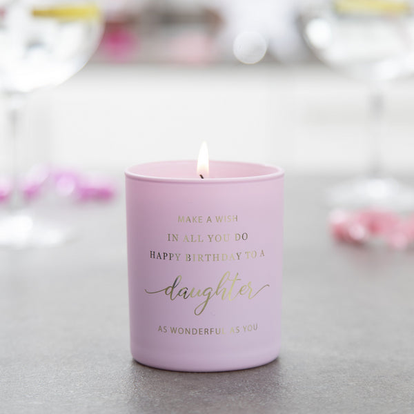 Daughter Birthday Candle - makeawishcandleco