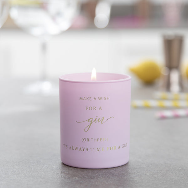 Gin Birthday Candle - makeawishcandleco
