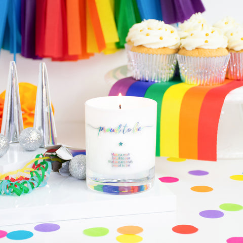 Make a Wish - Proud to be - LGBTQ+ Pride Candle - makeawishcandleco