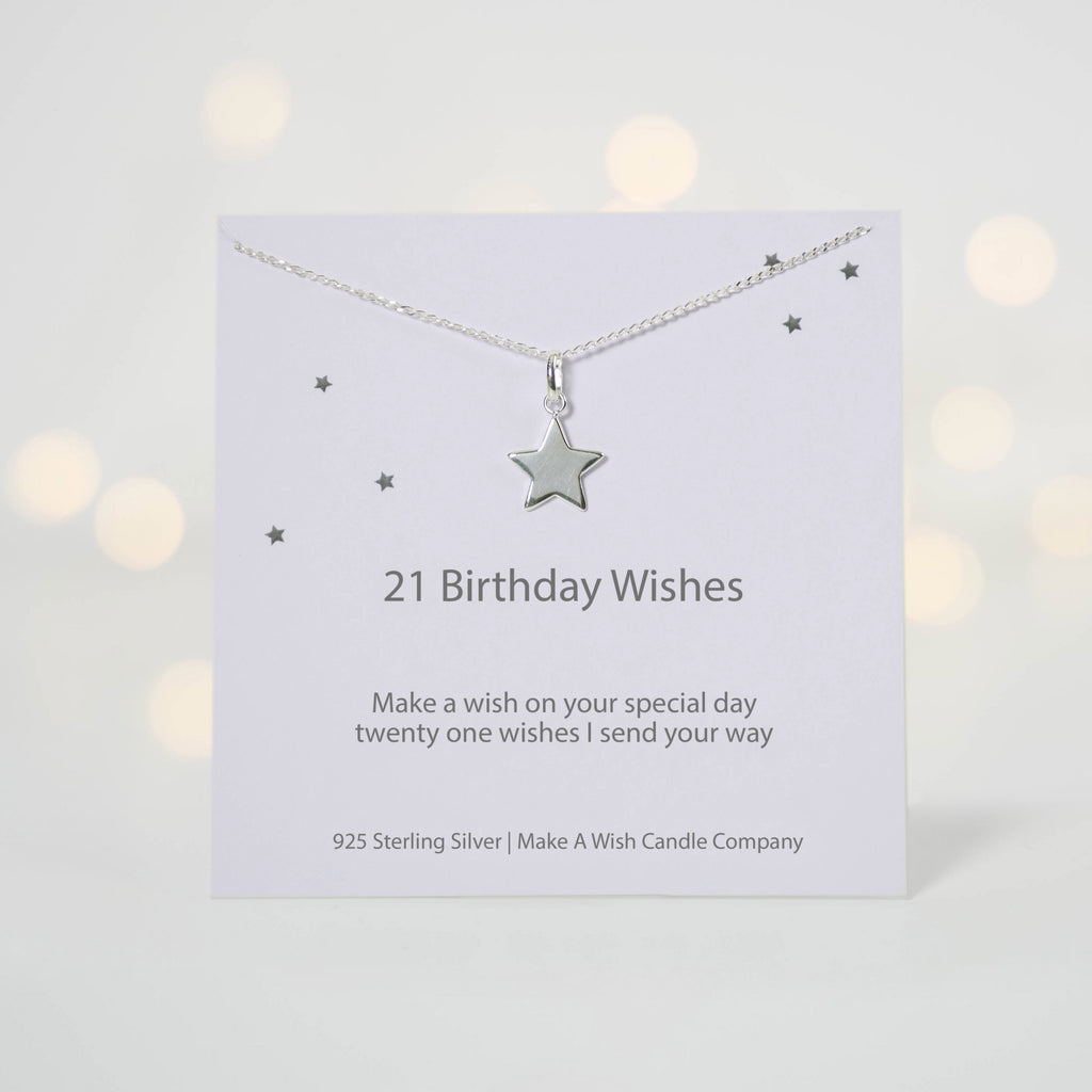 21 Birthday Wishes Make A Wish Necklace Makeawishcandleco