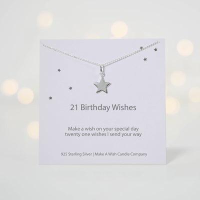 21 Birthday Wishes - Make a Wish Necklace - makeawishcandleco