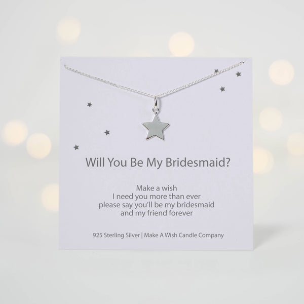 Will You Be My Bridesmaid Make A Wish Necklace - makeawishcandleco