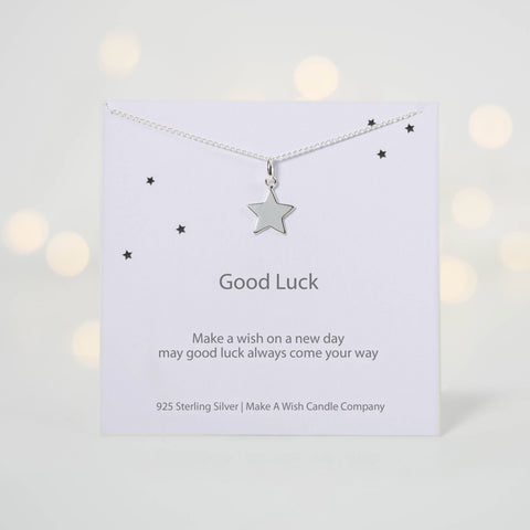 Good Luck Make a Wish Necklace - makeawishcandleco