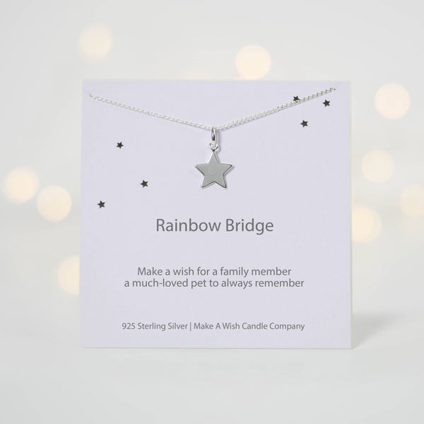 Rainbow Bridge Make a Wish Necklace - makeawishcandleco
