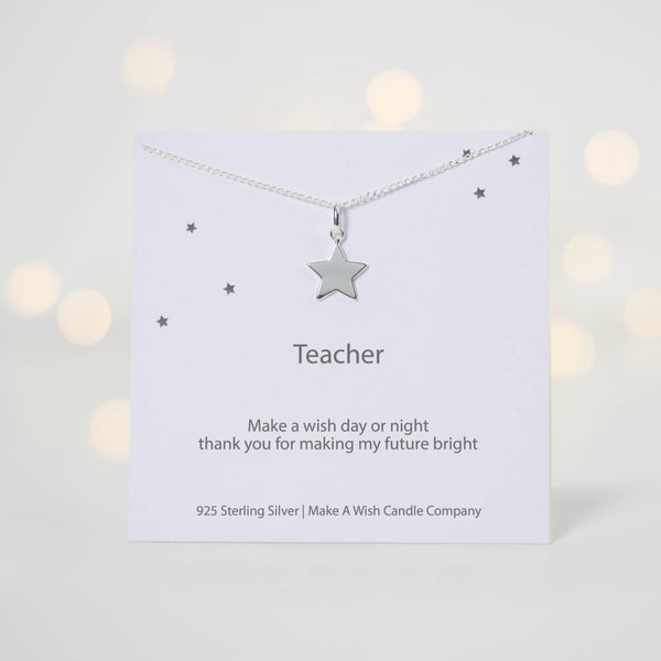 Teacher Make a Wish Necklace - makeawishcandleco