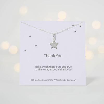 Thank You Make a Wish Necklace - makeawishcandleco