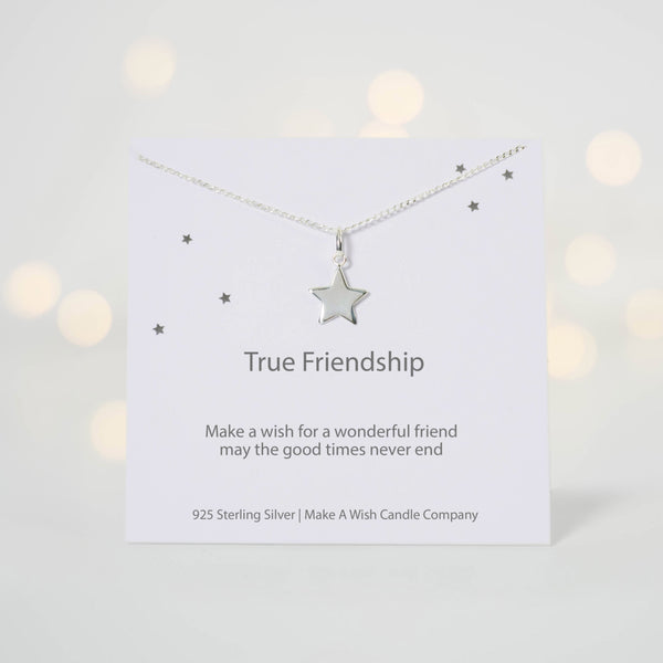 True Friendship Make A Wish Necklace - makeawishcandleco