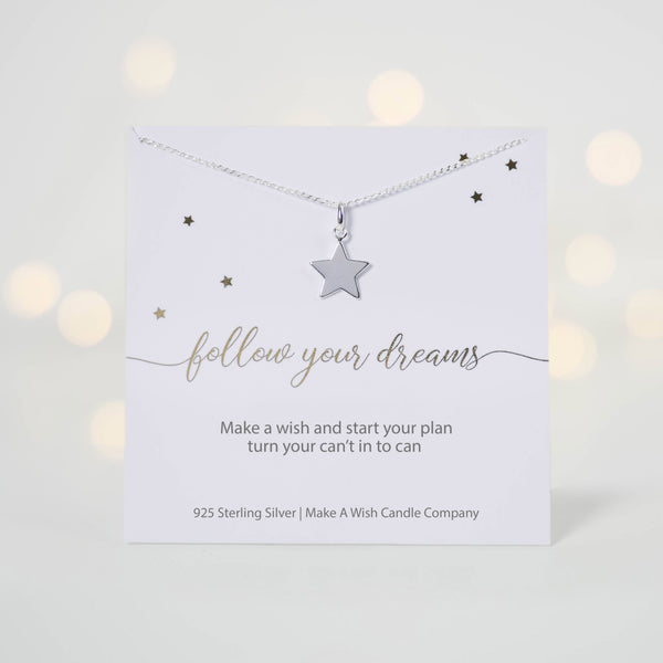 Follow Your Dreams Make A Wish Necklace - makeawishcandleco