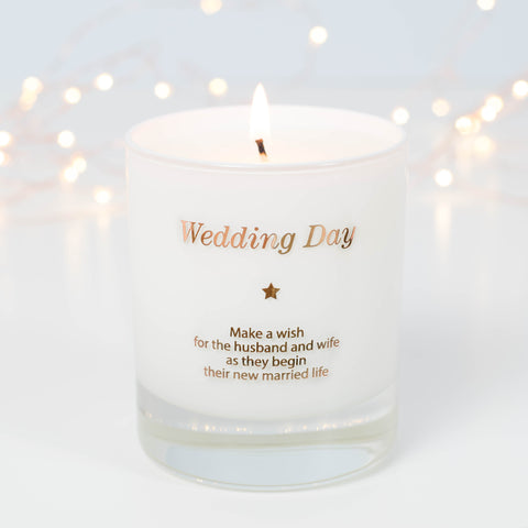 MAKE A WISH ON YOUR WEDDING DAY CANDLE - makeawishcandleco