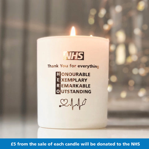 NHS HERO - Thank You Candle - makeawishcandleco