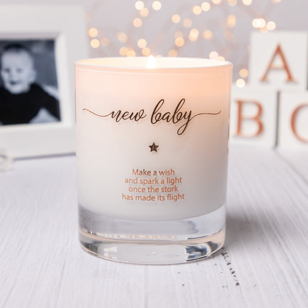 Make a Wish For A New Baby Candle