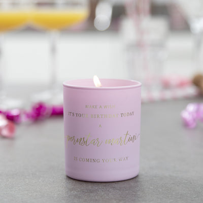 Pornstar Martini Cocktail Birthday Candle - makeawishcandleco