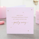 Party Away with Cocktails Birthday Candle - makeawishcandleco