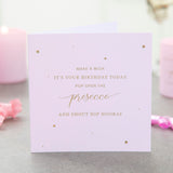 Prosecco Birthday Candle - makeawishcandleco