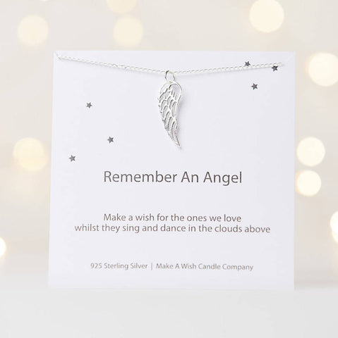 Remember an Angel Make a Wish Necklace - makeawishcandleco