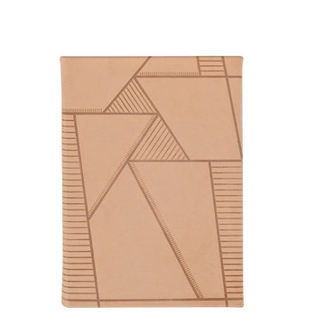 Leather Journal - Geometric Pattern