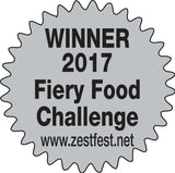 Avocado hot sauce from SoCal won the hot/extra hot latin style 2nd place award at the 2017 Fiery Food Challenge Zest Fest- SoCal Hot Sauce® avocado hot sauce