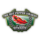 SoCal Hot Sauce® Hot Red won the Foodie Award for being the Best hot sauce on Eggs at the 10th Annual Hot Pepper Awards - SoCal Hot Sauce®