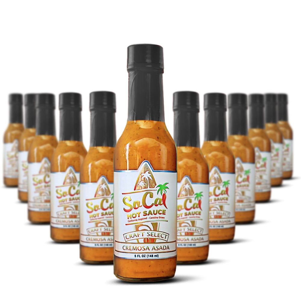 Hot Sauce Wholesale- Case of Cremosa Asada by SoCal Hot Sauce - All natural - mild - keto friendly sauce - socal hot sauce craft select