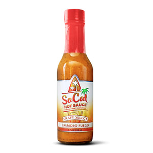 Cremoso fuego - all natural ghost pepper hot sauce - gluten free vegan paleo friendly and keto freindly - socal hot sauce cremoso fuego