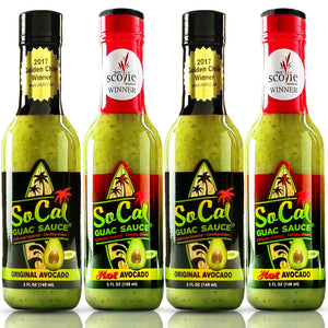 4-pack of  SoCal Guac Sauce®- Avocado Sauce - SoCal Hot Sauce® - SoCal Hot Sauce®