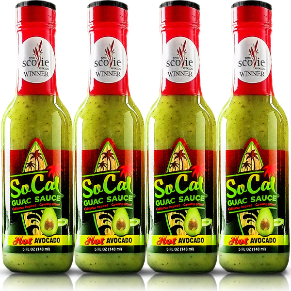 Guacamole recipe with spicy green habaneros- SoCal Style Guac Sauce | 5 FL OZ | | verde sauce| SoCal Hot Sauce