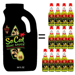 Hot Avocado and Hot Red 64 oz Jug Combo Pack - SoCal Hot Sauce®
