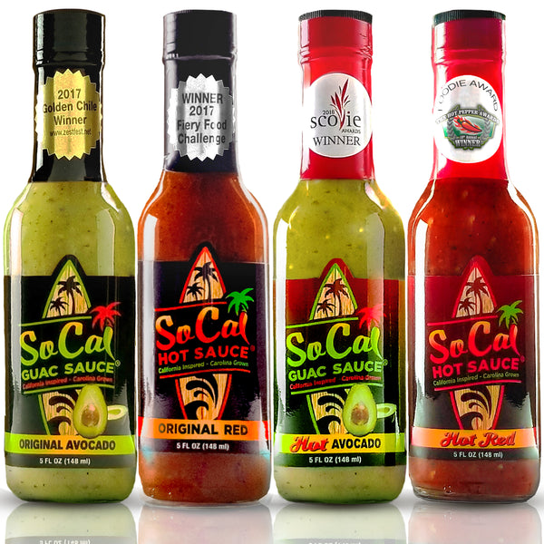 SoCal Variety Pack - All 4 Award Winning Flavors - SoCal Hot Sauce®