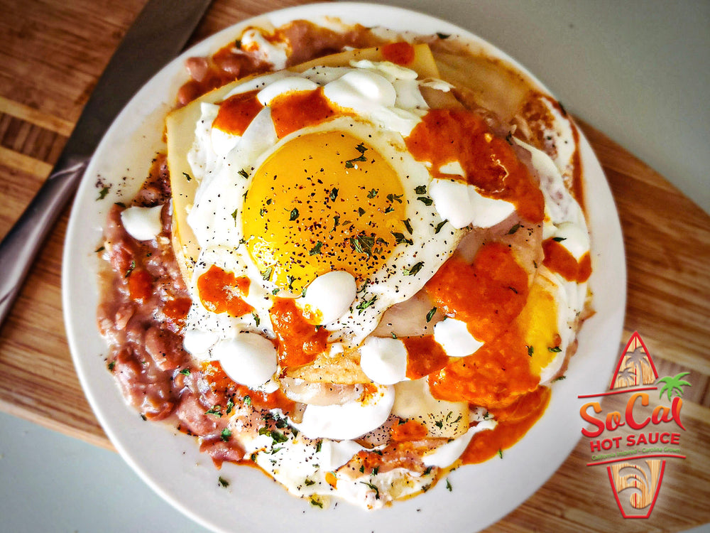SoCal huevos rancheros recipe - socal hot sauce craft select series