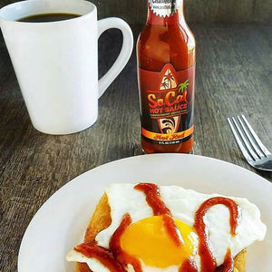Best hot sauce on eggs foodie award winner - socal hot red