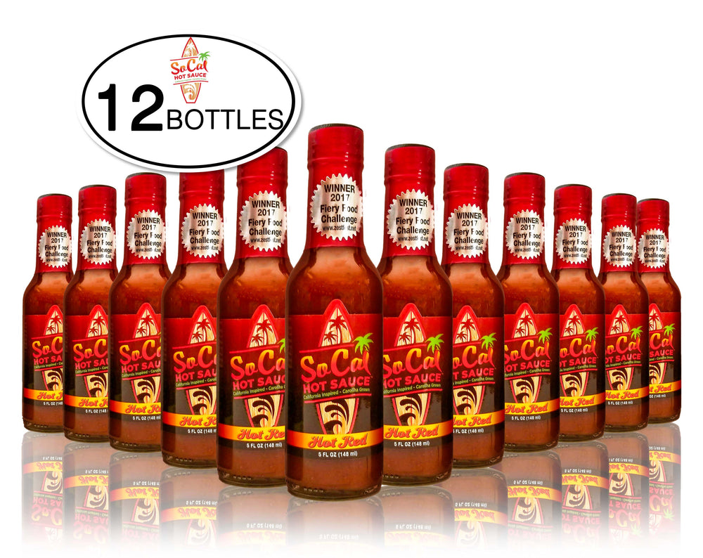 Case - 12 Bottles of Hot Red SoCal Hot Sauce®