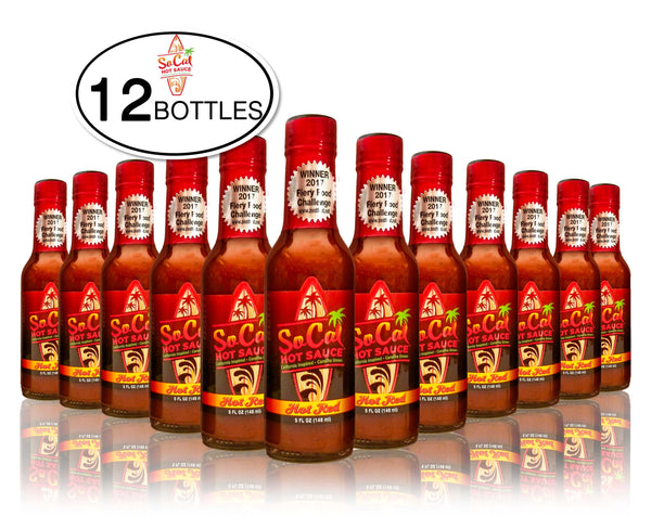 Wholesale ghost pepper hot sauce SoCal Hot Sauce Hot Red 12 bottle case - SoCal Hot Sauce
