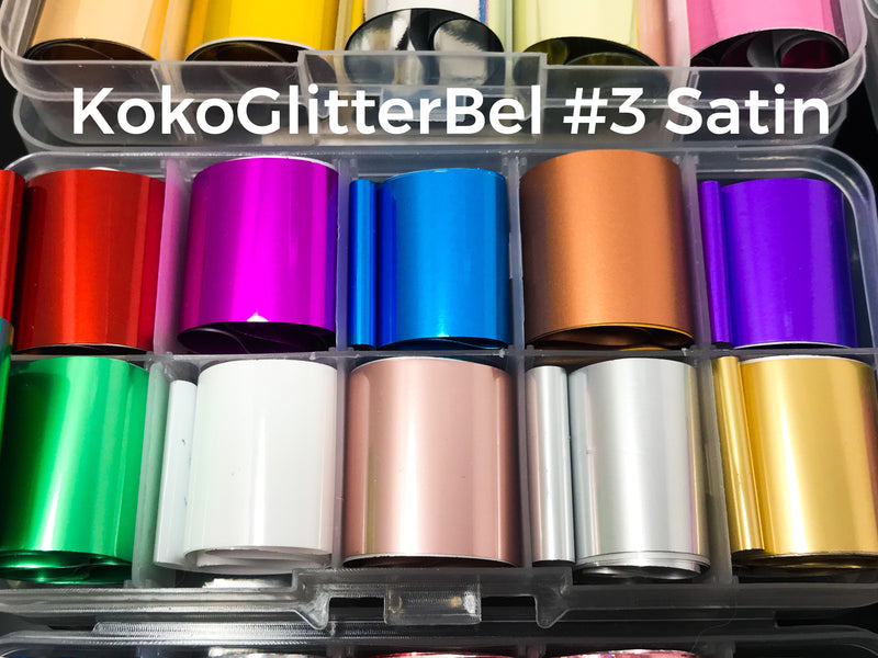 30 Ft Nail Foils Kit - KokoGlitterBel